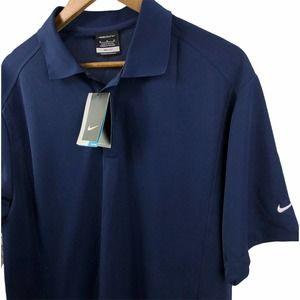 Nike Golf Dri-Fit Polo Shirt Navy Blue Medium NWT